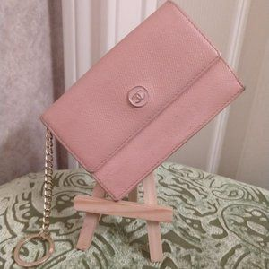Chanel Caviar Key Chain Card Case Pink